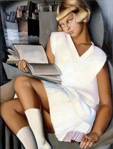 """""""Kizette en rose"""" Tamara De Lempicka, olio su tela, 1926"""
