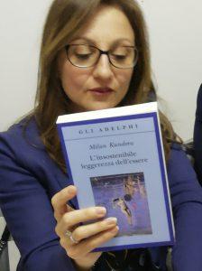 Donatella e il libro sorteggiato.