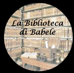 """Clicca sul logo per accedere al blog """"La biblioteca di Babele"""""""
